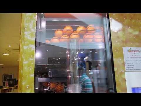 Freshly Squeezed Orange Juice Vending Machine!