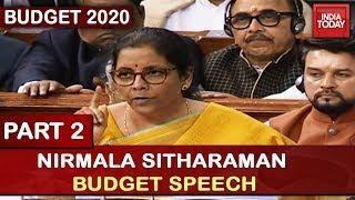 Nirmala Sitharaman Budget Speech 2020 | Part 2