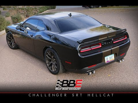 Challenger Hellcat fitted with a Billy Boat Exhaust
