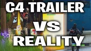 Fortnite C4 Remote Explosives Trailer Vs Reality (Fortnite 3.3 Update)