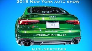 New YouTube Video. 2018 NY auto show Audi/Mercedes