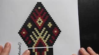 Brick Stitch Earring Part 1