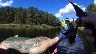 Рыбалка на щуку,ловля щуки,щука на спиннинг с лодки, китайский воблер на щуку,рыбалка сплавом.окунь