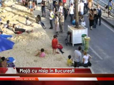 Plajă cu nisip, în capitală – VIDEO