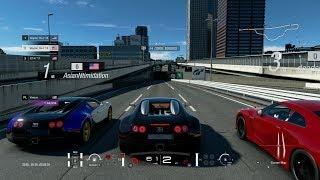 GT Sport:Bugatti Veyron vs Street Monsters (Big Turbo Supra, SRT Viper, Mach40) & More