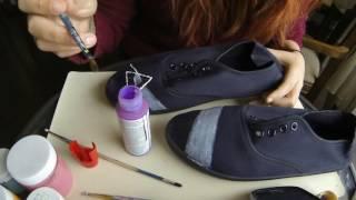 TIMELAPSE / D.I.Y Pink Floyd Shoes