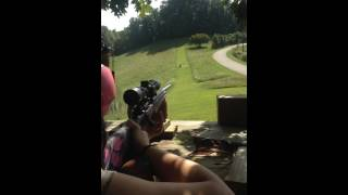 My Wife Shooting Her Pink Muddy Girl Camo Savage Axis .243 Pt 3