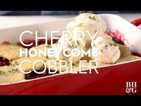 Cherry Honeycomb Cobbler | Eat This Now | Better Homes & Gardens