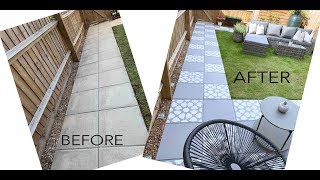 How To Stencil Concrete Garden Paving Slabs | Start To Finish Tutorial