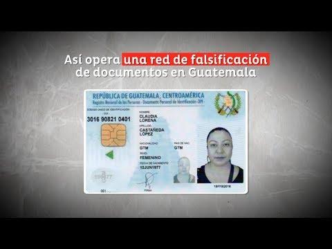 Así opera una red de falsificación de documentos en Guatemala