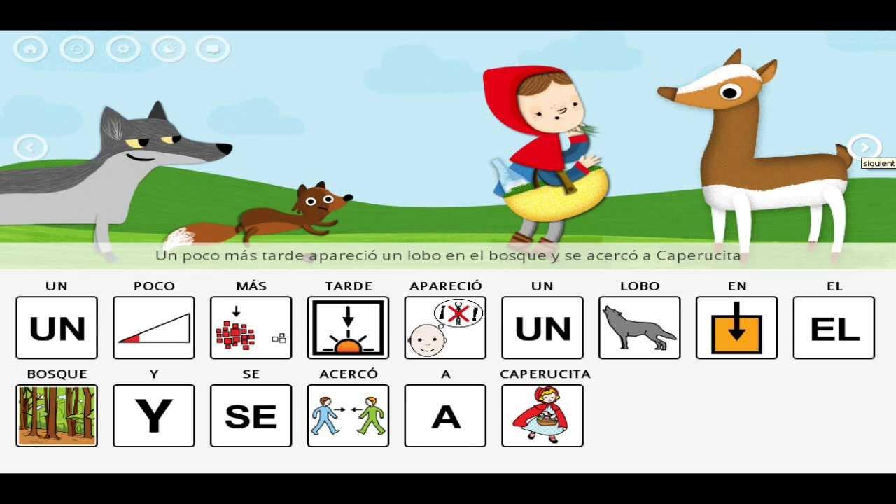Caperucita roja cuento infantil con pictogramas