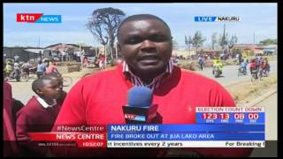 Property worth millions of shillings destroyed after fire breaks out in Nakuru