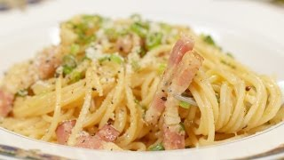 Spaghetti Carbonara (Japanese Inspired Pasta Recipe) | Cooking With Dog