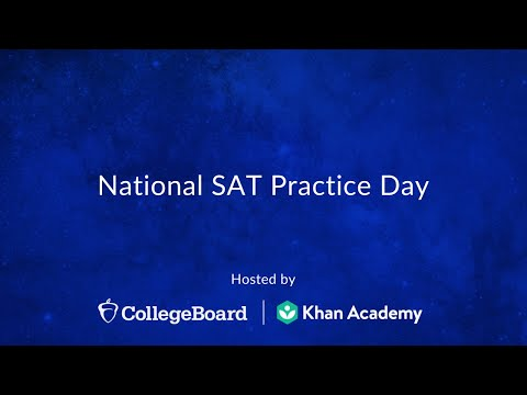 National SAT Practice Test Day - YouTube