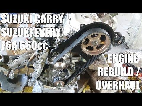 Фото к видео: Suzuki Carry/Every/Scrum F6A Engine Rebuild