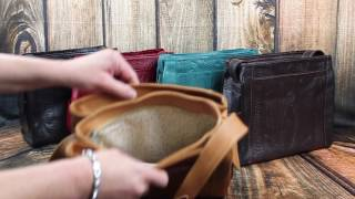 Ropin West Tooled Leather Purse RW 978L - SassyLeatherBoutique.com