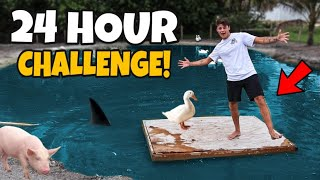 Spending 24 Hours on DOCK stuck with My ANIMALS!! *crazy*