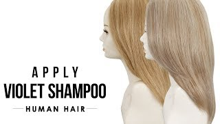 HOW-TO: Apply In Tone Violet Shampoo for Blonde Human Hair - Human Hair Care