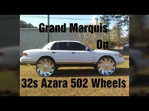 Grand Marquis on 32s Azara 502 Wheels