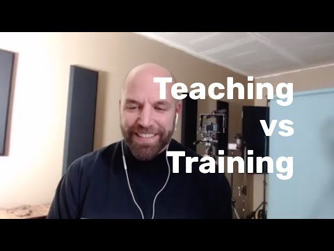 Teaching vs Training - YouTube