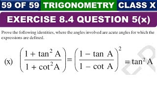 Exercise 8.4 Part 10 Ques 5 Introduction to Trigonometry Class 10 Maths