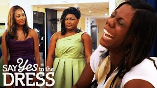 Bride Laughs at Plus Size Bridesmaid | Say Yes To The Dress Bridesmaids
