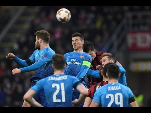 AC Milan vs Arsenal 0 2 All Goals & Highlights   Europa League 08 03 2018 HD