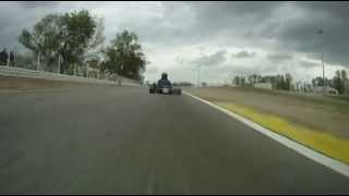 preview picture of video 'Coupe de France KZ125 à Valence: caméra embarquée en KZ125'