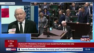 Prezes PiS dla TVP Info: Pani marszałek podjęła właściwą decyzję