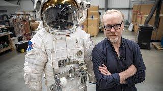 Adam Savage examines NASA EMU spacesuits