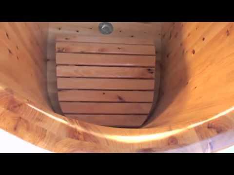 Video for 63-inch Free Standing Cedar Wood Bath Tub