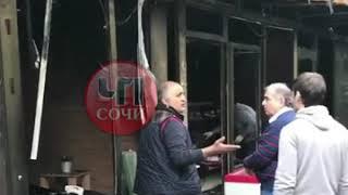 Вчера в Сочи сгорели ларьки