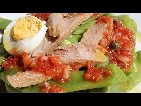 JUDIAS VERDES CON TOMATE Y VENTRESCA - Falsarius Chef