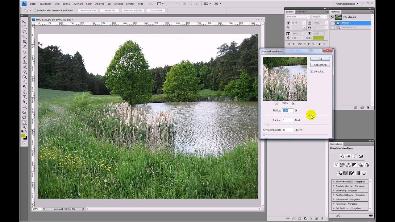 Bilder professionell nachschärfen – Photoshop-Tutorial