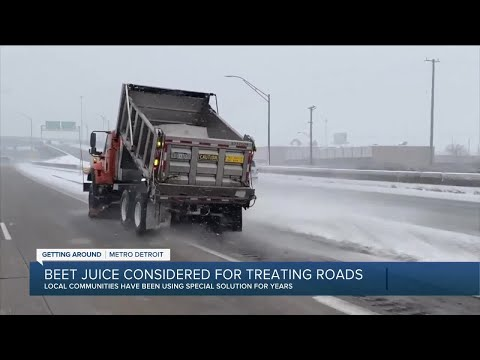 Beet juice considered for treating roads in Michigan