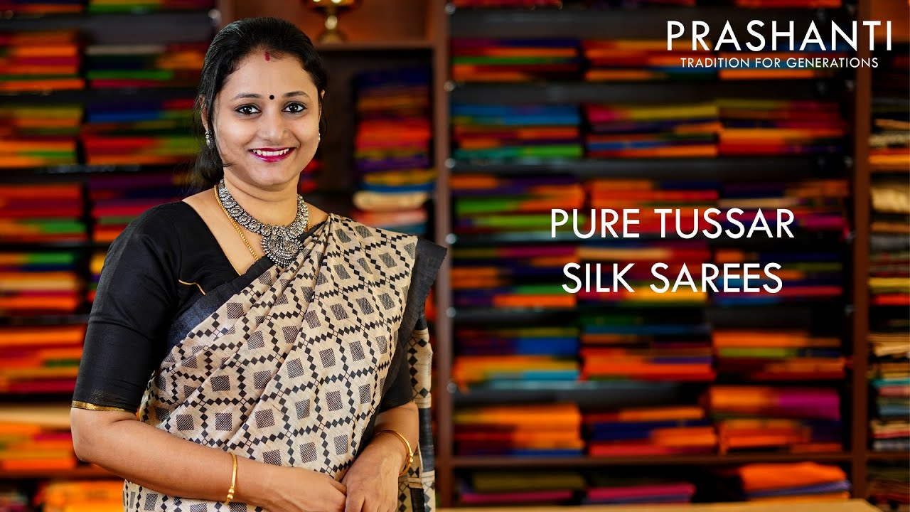 "<p style=""color: red"">Video : </p>Pure Tussar Silk sarees 