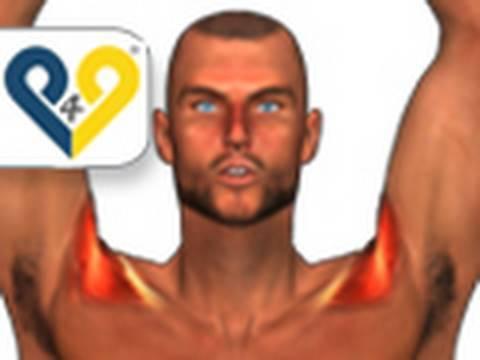Serie di esercizi per petto di sinistra parte scoliosis
