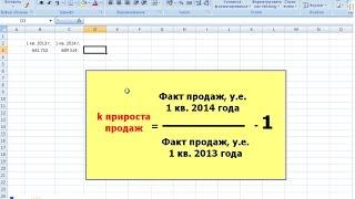 Анализ продаж в MS Excel: динамика роста общих продаж компании