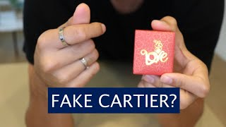 Unboxing & Comparing Fake Cartier Rings