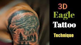 3D Eagle Tattoo || 3d Eagle Tattoo On Biceps || 3d Tattoo