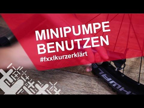 Fahrrad Minipumpe benutzen - #fxxlkurzerklärt