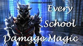 SKYRIM - EVERY SCHOOL DAMAGE MAGIC MOD