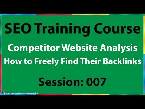 07 How to Analyze Competitor's Backlinks