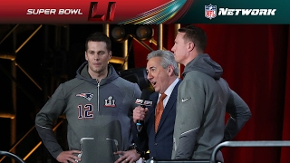 Super Bowl LI Opening Night Tom Brady and Matt Ryan Interview
