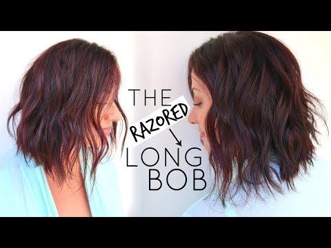 Long Bob Hair Cut Tutorial using a Razor