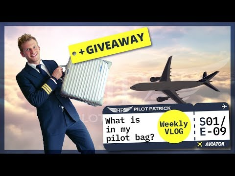 WHAT IS IN MY PILOT BAG? | MY DAY AS AN AIRLINE PILOT | VLOG #09