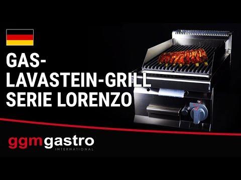 Gas-Lavasteingrill aus der Serie Lorenzo - GGM Gastro
