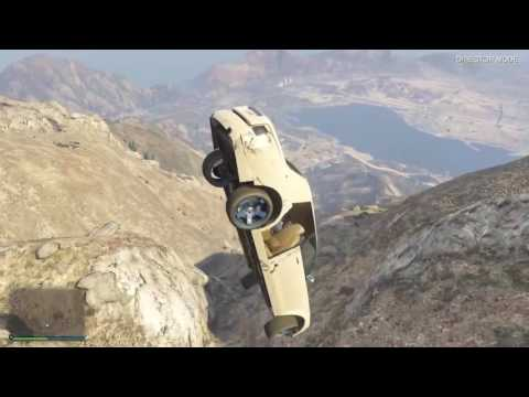 Gta5  Driving Vehicles Off Of Mt.Chilliad