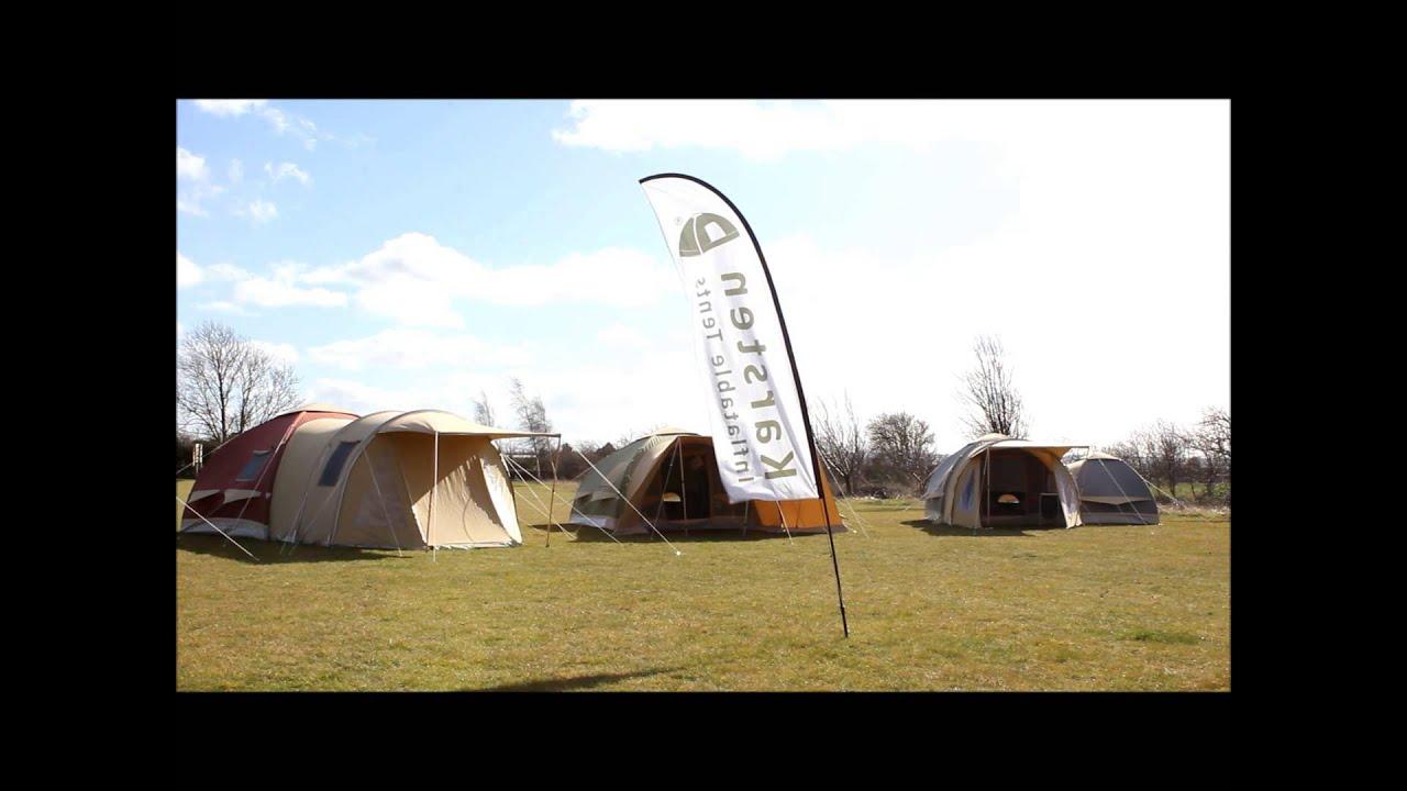 強風時のKarsten Air tent