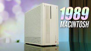 Using Apple's Macintosh IIcx... From 1989!
